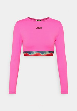 Long sleeved top - fucsia