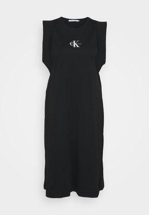 KNOTTED T-SHIRT DRESS - Jerseykjoler - black