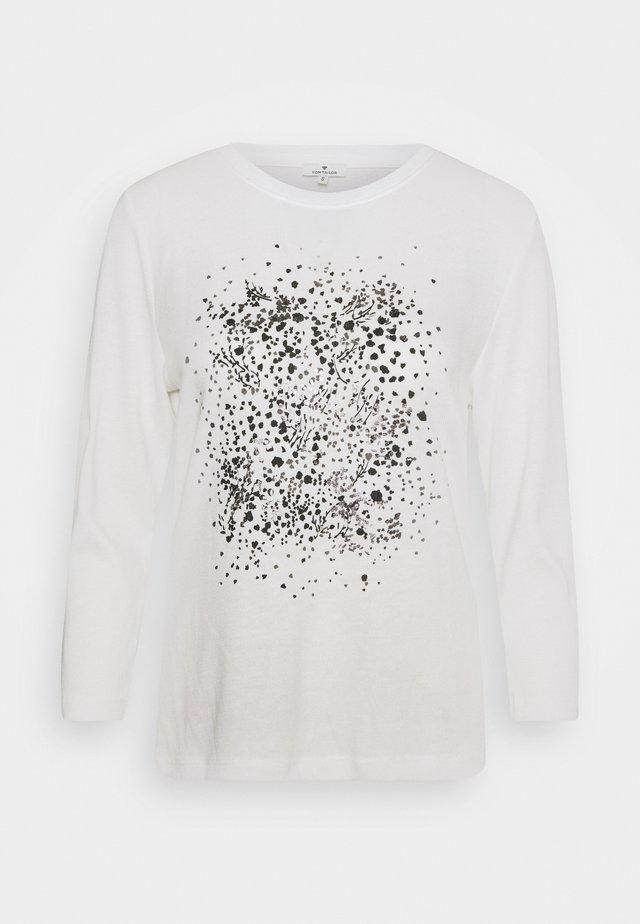 FRONTPRINT - Sweter - whisper white