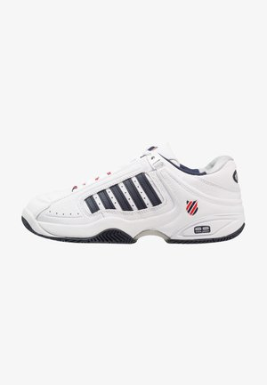 DEFIER RS - Multicourt tennis shoes - white/dress blue/fiery red