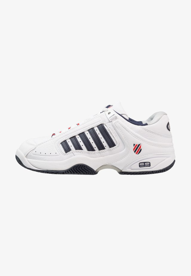 DEFIER RS - Chaussures de tennis toutes surfaces - white/dress blue/fiery red
