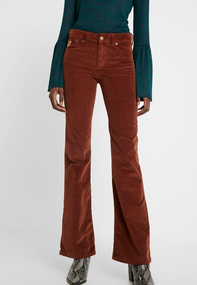 RAWAL - Spodnie materiałowe - brandy
