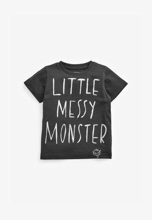 LITTLE MESSY MONSTER  - T-shirt z nadrukiem - grey