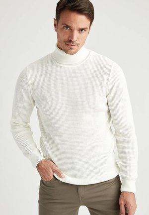 SLIM FIT - Pullover - ecru
