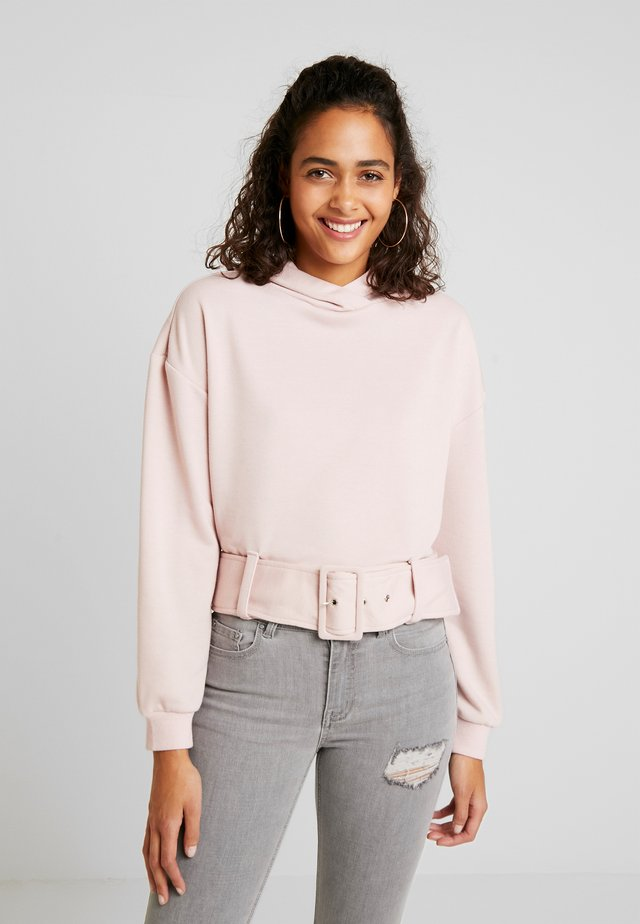 BUCKLE DETAIL HOODIE - Sweat à capuche - pink