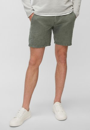 RESO  - Denim shorts - balsam green