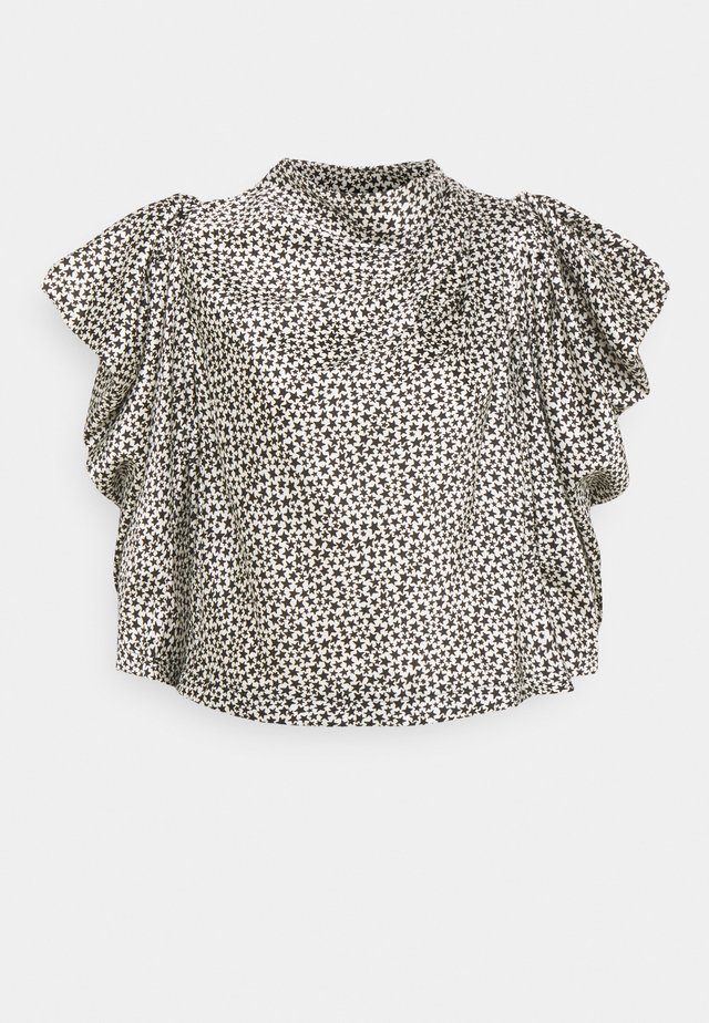 STAR COWL NECK BLOUSE - Print T-shirt - mono