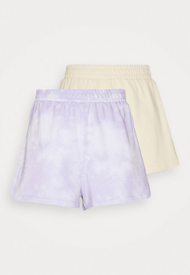ZOE 2 PACK - Shorts - purple/yellow dusty light