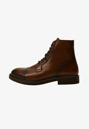 Lace-up ankle boots - marron moyen