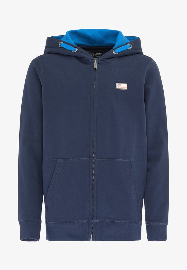 veste en sweat zippée - dark petrol