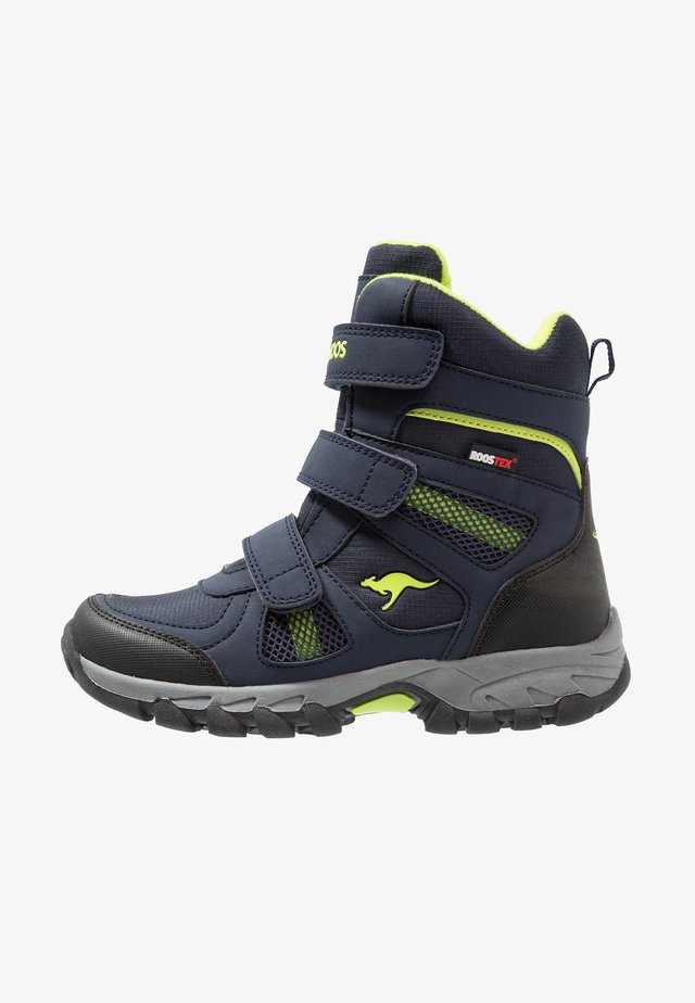 K-RANI - Boots - dark navy/lime