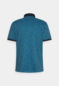 TOM TAILOR - FINE STRIPED WITH DETAILS - Polo shirt - aquarius blue - 1