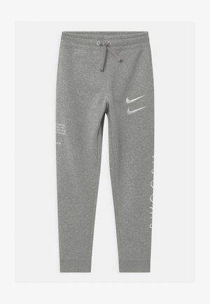 Tracksuit bottoms - dark grey/white