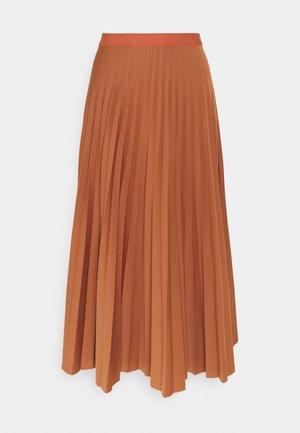 PLISSÉE SKIRT - A-line skirt - cinnamon