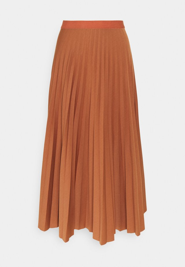 PLISSÉE SKIRT - Spódnica trapezowa - cinnamon