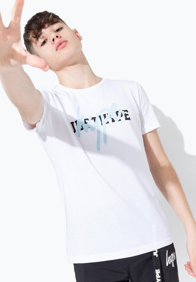 DOUBLE LOGO  - T-shirt imprimé - white