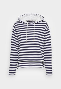 Anna Field - STRIPED LOOSE FIT HOODIE - Hoodie - dark blue/white - 3