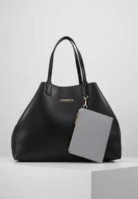 Tommy Hilfiger - ICONIC TOTE SOLID - Tote bag - black - 0