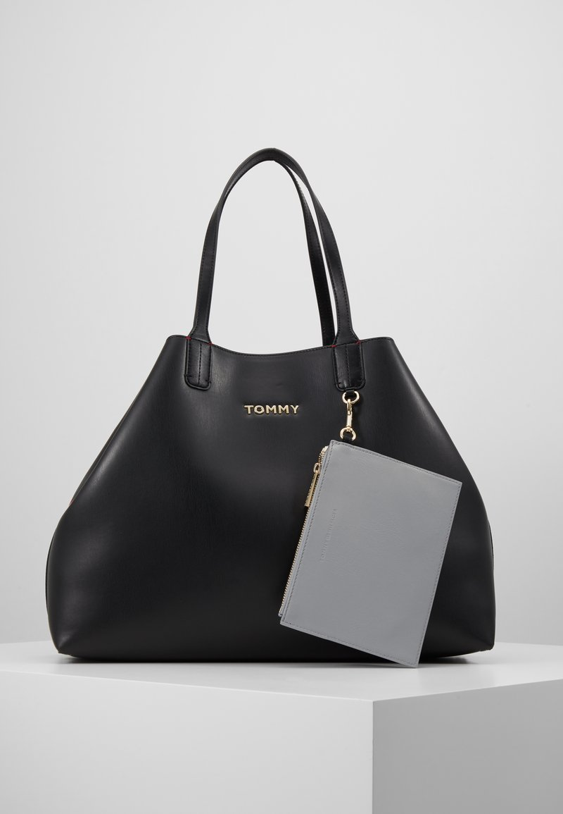 Tommy Hilfiger - ICONIC TOTE SOLID - Tote bag - black
