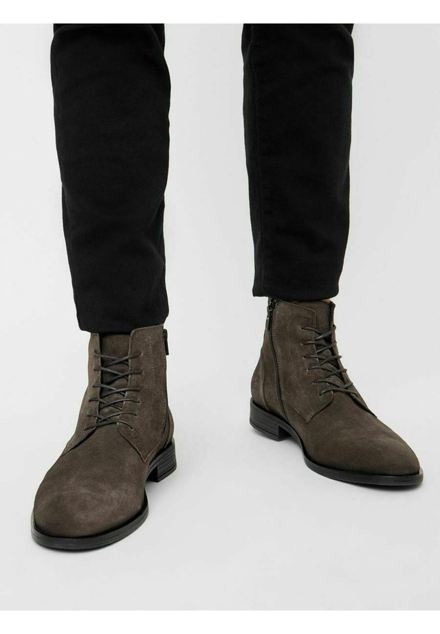 LACE UP BOOT - Bottines à lacets - darkgrey1