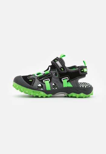 Walking sandals - nero/grigio