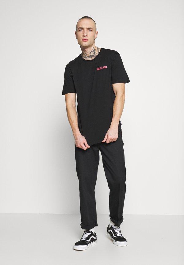 YOURTURN T-shirt z nadrukiem - black/czarny Odzież Męska RONF