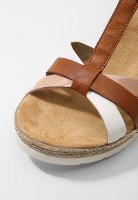 Rieker - Platform sandals - bianco/cognac - 2