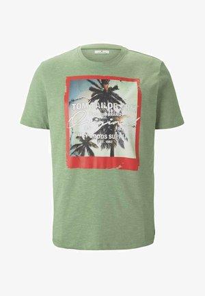FOTOPRINT - T-shirt med print - mint green grindle melange