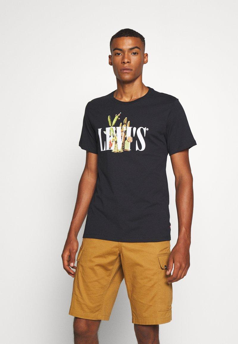 Levi's® - GRAPHIC CREWNECK TEE - T-shirt con stampa - black