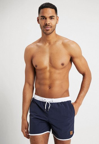RETRO - Swimming shorts - navy/white