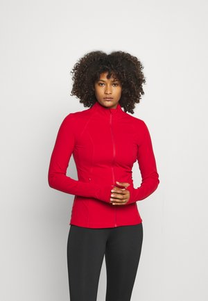 POWER WORKOUT ZIP THROUGH JACKET - Training jacket - cardinal red