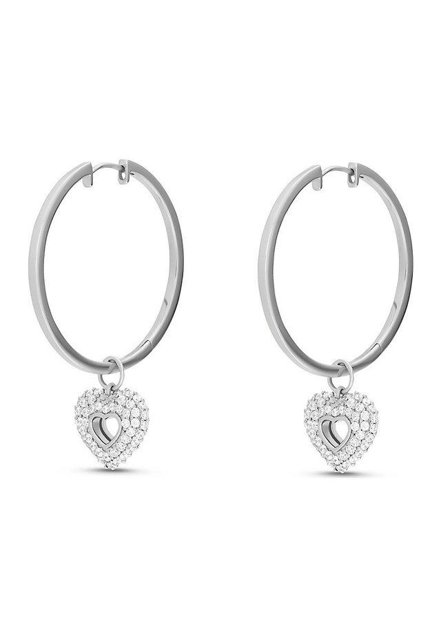 JETTE SILVER DAMEN-CREOLE SILBER 98 ZIRKONIA - Earrings - silber