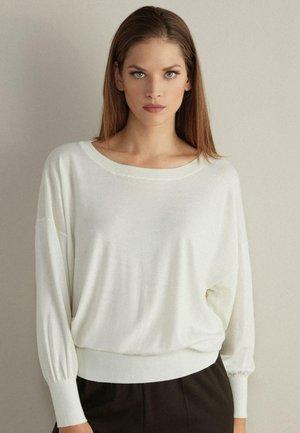 MIT WEITEM ARM - Sweatshirt - white