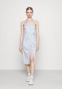 Hollister Co. - MIDI DRESS - Shift dress - white - 0