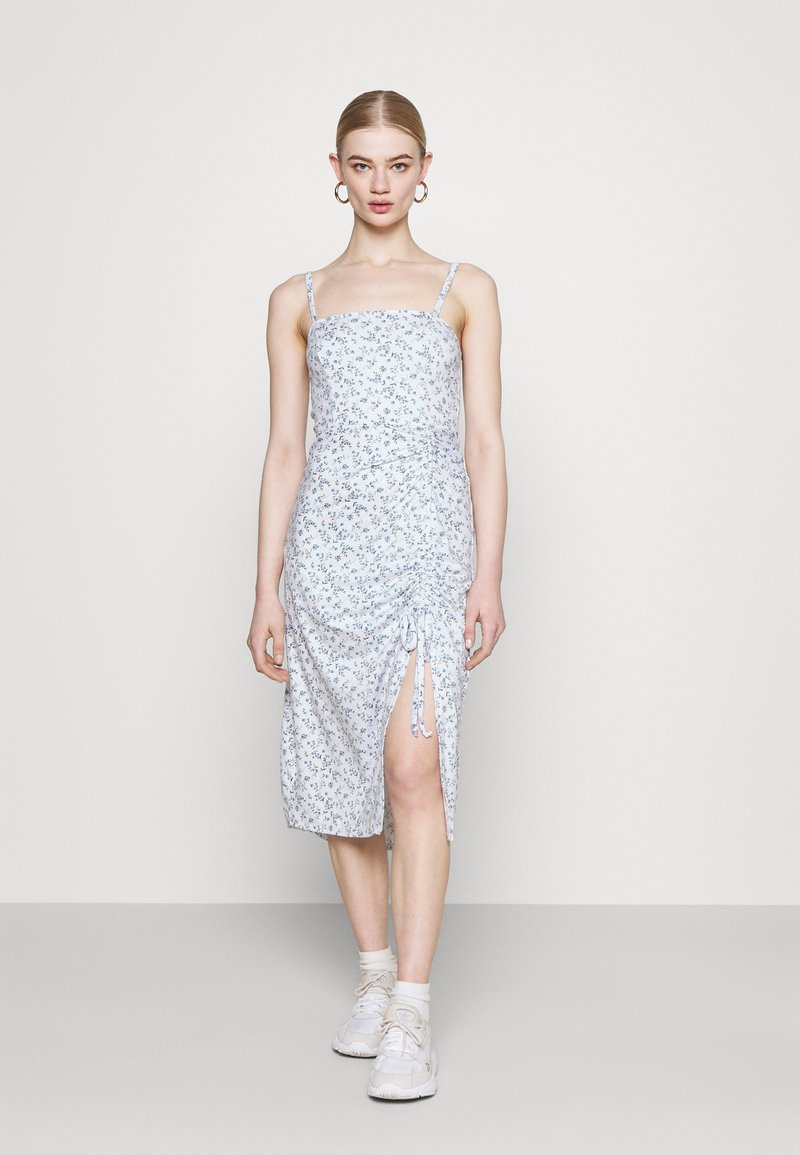 Hollister Co. - MIDI DRESS - Shift dress - white