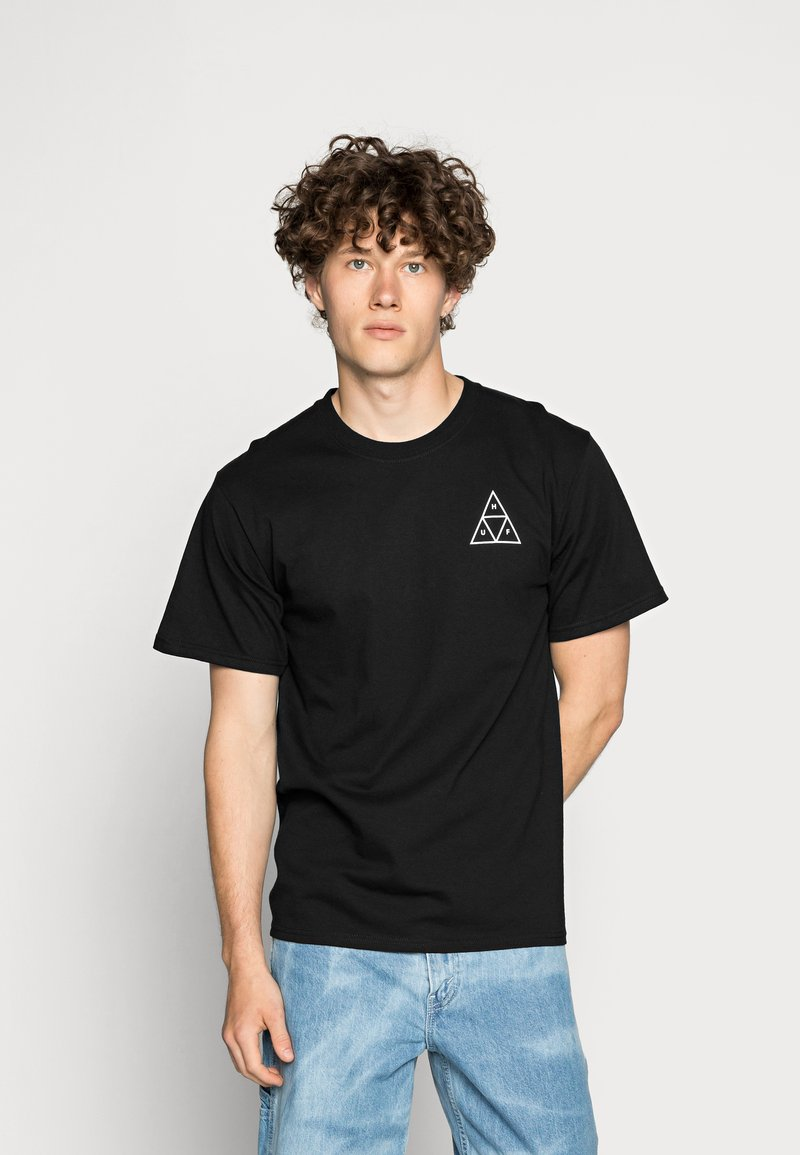 HUF - ESSENTIALS TEE - Print T-shirt - black