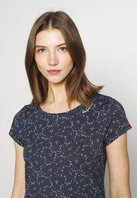 Ragwear - MINT ORGANIC - Print T-shirt - navy - 4