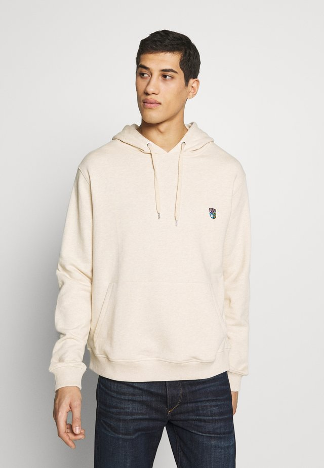 JACOB - Sweat à capuche - beige melange