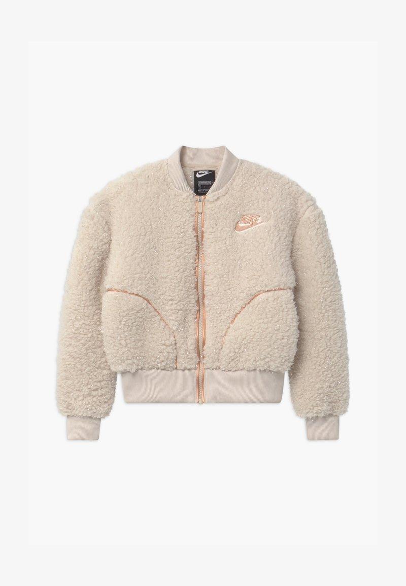 Nike Sportswear - SHERPA SHINE - Kurtka Bomber - orewood/praline