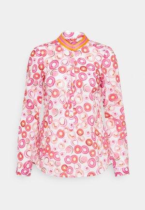 Button-down blouse - pink/orange