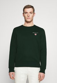 GANT - MEDIUM SHIELD CNECK - Sweatshirt - tartan green - 0