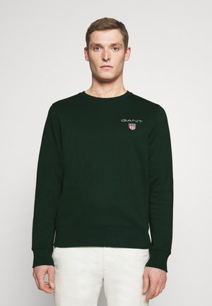 MEDIUM SHIELD CNECK - Sweatshirt - tartan green