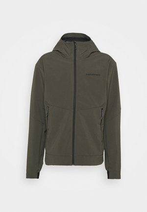 ADVENTURE HOOD JACKET - Zimní bunda - black/olive