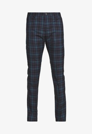 MENS TROUSER CHECKED - Suit trousers - navy