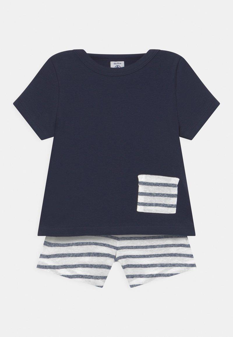Petit Bateau - ENSEMBLE SET - Print T-shirt - white/dark blue