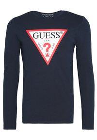 Guess - ORIGINAL LOGO - Maglietta a manica lunga - blue navy - 4