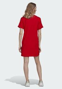 adidas Originals - TEE DRESS - Jersey dress - red - 2