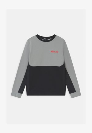 AIR CREW - Sweater - light smoke grey/black/bright crimson