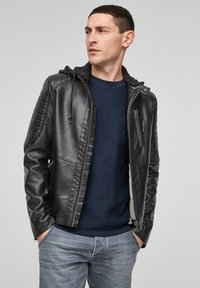Q/S designed by - Faux leather jacket - black - 3