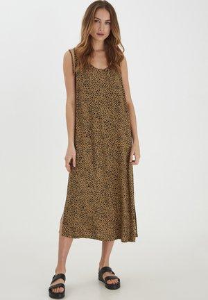 NELLY  - Korte jurk - dull gold printed